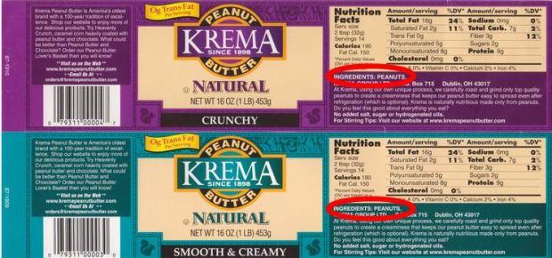 Krema - Ingredients