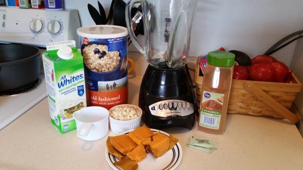 Sweet Potato Muffins - Ingredients