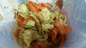 Vegetable Pad Thai with PB Sauce